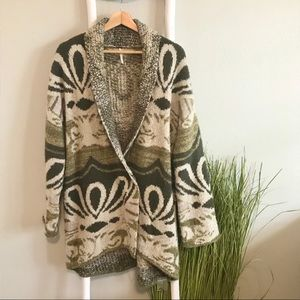 Free People | RARE Winters Day Metallic Cardigan